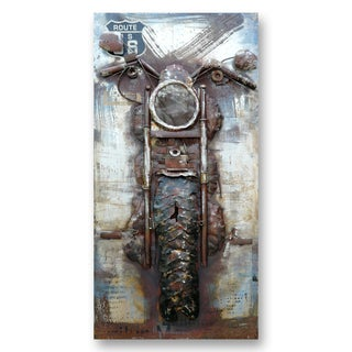 Benjamin Parker 'Headed Out' 27-in by 55-in Dimensional Metal Wall Art