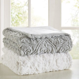 Madison Park Syracuse Ultra Plush Down Alternative Throw 2 Color Option (2 options available)