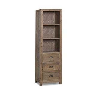 Infurniture Brown Wood 75-inch Side Cabinet