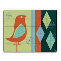 Sparkle Bird with Diamonds Wall Art Print on Wood