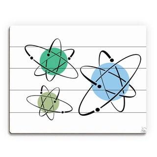 Cooler Atoms Astrobursts Wall Art Print on Wood