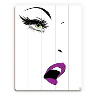 Mascara Stare Peridot Wall Art Print on Wood