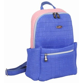 OUUL Ribbed Violet/ Pink Ladies 9-inch Laptop Backpack