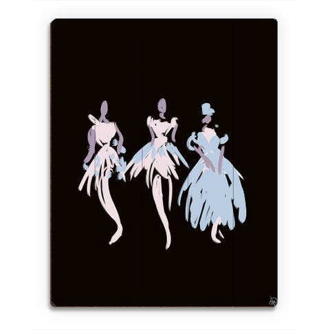 Kathy Ireland Ballerinas in Blush Abstract Wall Art on Wood