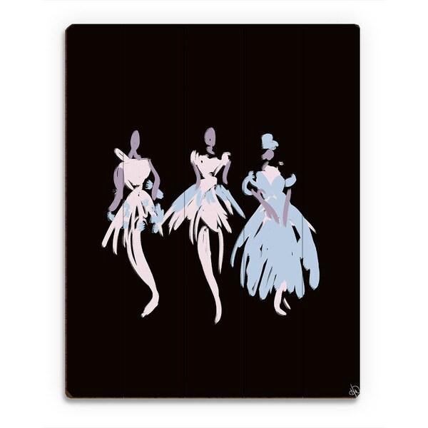 Kathy Ireland Ballerinas in Blush Abstract Wall Art on Wood