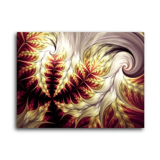 Abstract Art Fabled Mulberry Fox Tails Gallery Wrapped Canvas Wall Art