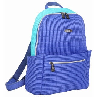 OUUL Ribbed Violet/ Light Blue Ladies 9-inch Laptop Backpack