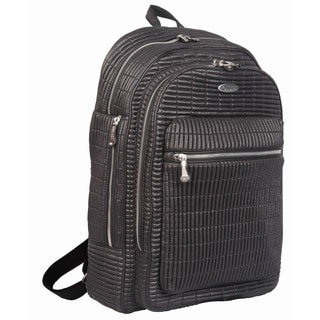 OUUL Ribbed Black 13-inch Laptop Backpack
