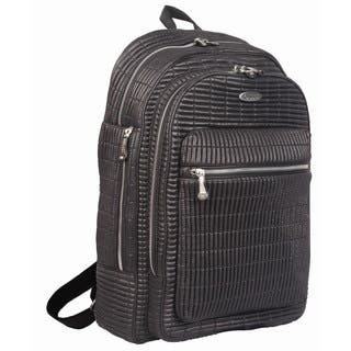 OUUL Ribbed Black 13-inch Laptop Backpack|https://ak1.ostkcdn.com/images/products/16343283/P22703805.jpg?impolicy=medium