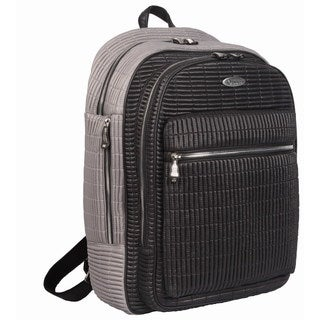 OUUL Ribbed Black/ Grey 13-inch Laptop Backpack