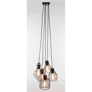 Benzara Meshed Metal Light Pendant with Bulb