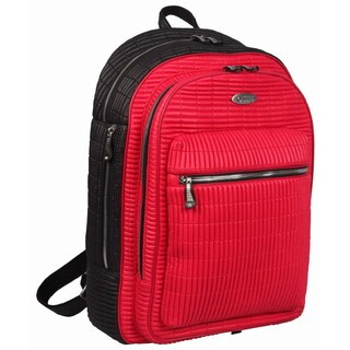 OUUL Ribbed Red/ Black 13-inch Laptop Backpack