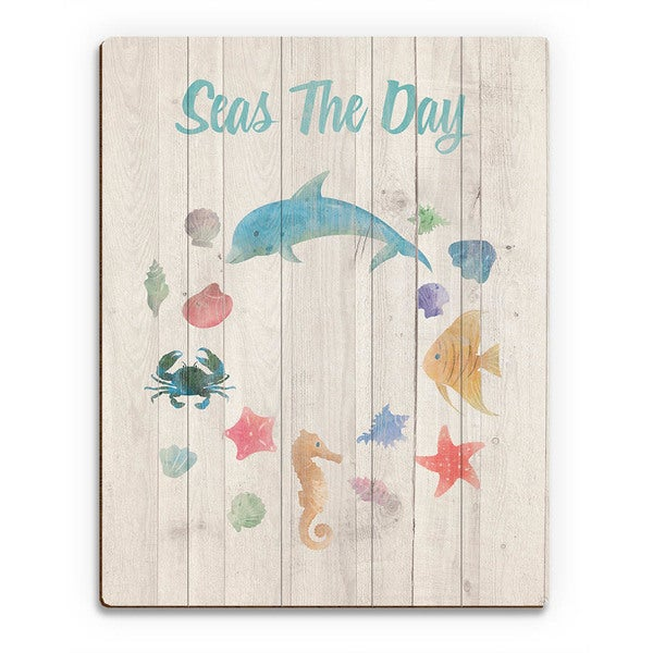 Seas the Day Child's Nautical Wall Art on Wood