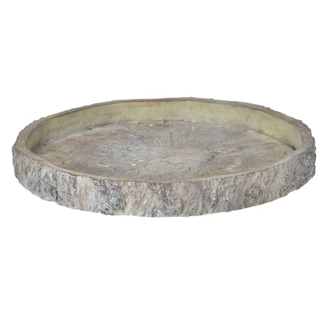 A&B Home Faux Wood 13-inch Round Plate