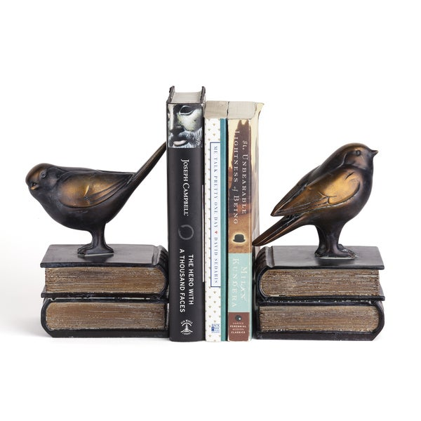 Danya B. Birds on Books Bookend Set