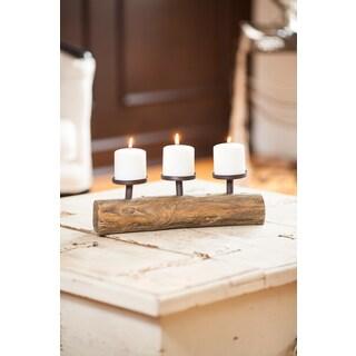 Danya B. Triple Candle Holder on Log