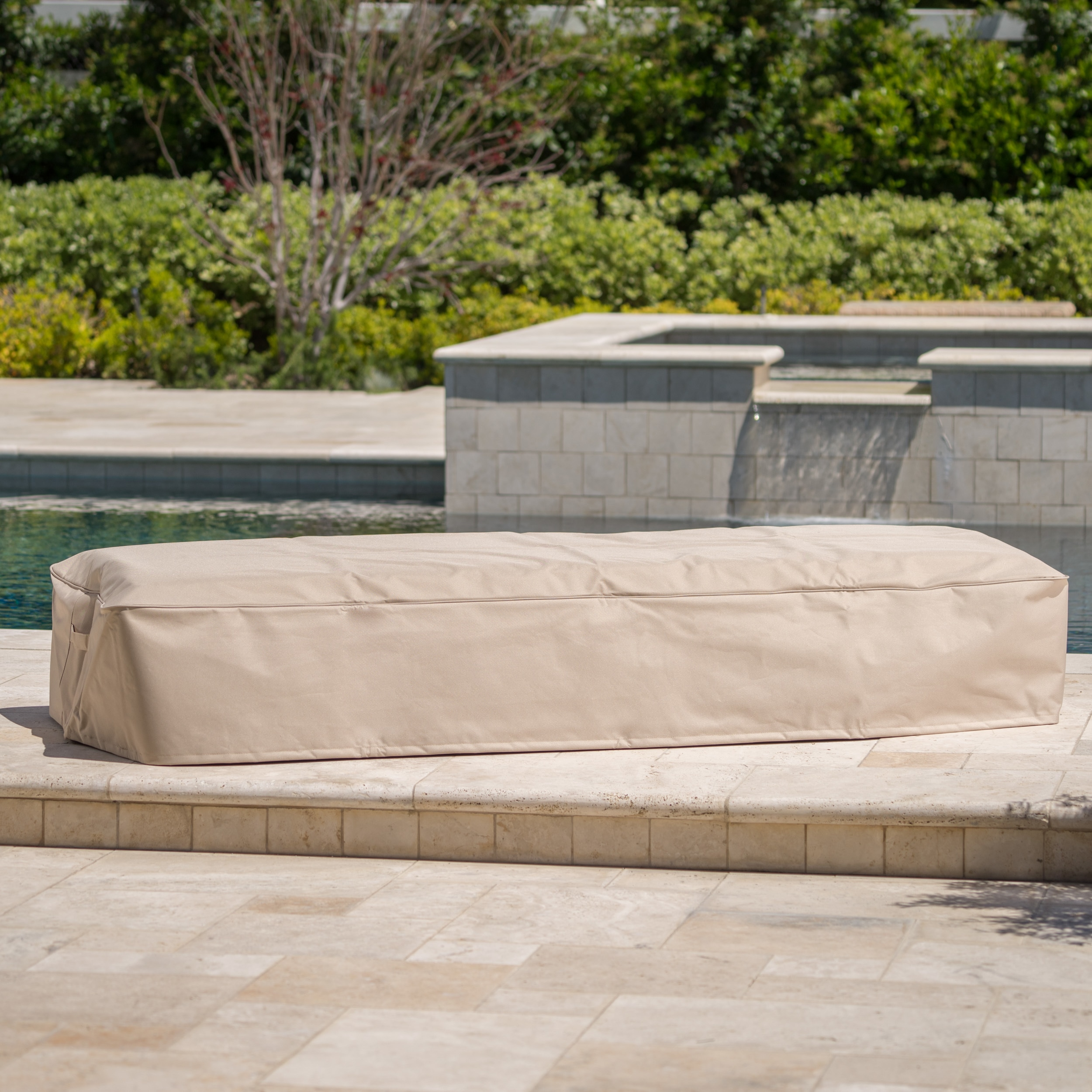 Shield Outdoor Waterproof Fabric Lounge Patio Cover Set Of 2 By Christopher Knight Home Overstock 16343426