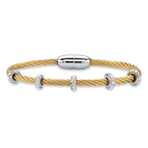 e20be901f5e5 Shop Yellow Gold-Plated Bangle Bracelet (7mm)