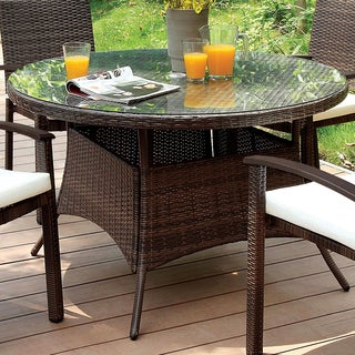 Furniture of America Klilan Brown Outdoor Dining Table