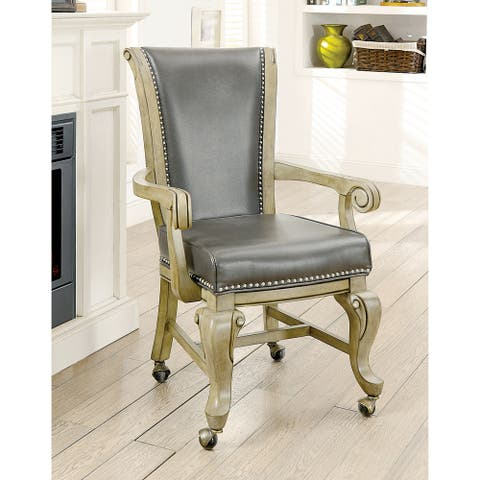 Furniture of America Frankline Traditional Faux Leather Armchair