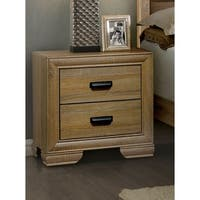 Furniture of America Lamer Contemporary 2-drawer Natural Finish Nightstand