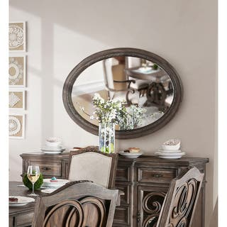 Furniture of America Dianne Rustic Natural Tone Oval Mirror|https://ak1.ostkcdn.com/images/products/16344128/P22704455.jpg?impolicy=medium