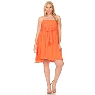 Xehar Women's Plus Size Sleeveless Ribbon Tie Dress (3 options available)