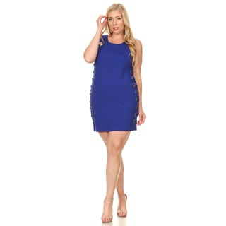 Xehar Women's Plus Size Sexy Fitted Grommet Evening Dress