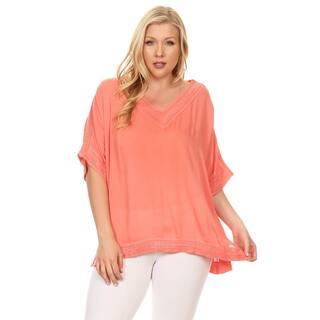 Xehar Women's Plus Size Kaftan Crochet Tunic Blouse Top|https://ak1.ostkcdn.com/images/products/16345379/P22705621.jpg?impolicy=medium