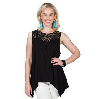 Xehar Women's Sleeveless Lace Top