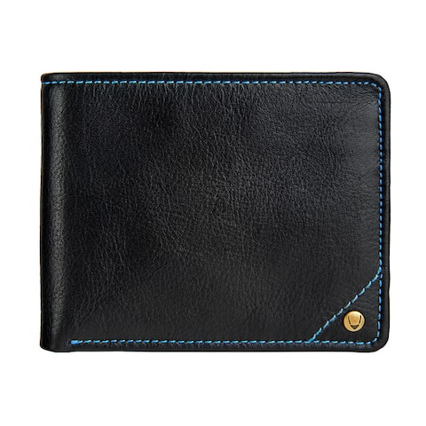 Hidesign Angle Stitch RFID-blocking Multicompartment Black/Brown Leather Wallet