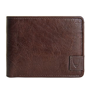 Hidesign Vespucci Buffalo Leather RFID Blocking Brown Trifold Wallet
