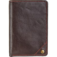 Hidesign Leather Angle Stitch Slim Trifold Wallet