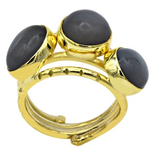 Orchid Jewelry 8 1/3 Carat Moonstone 14k Gold Over Silver Ring