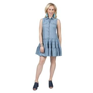 Xehar Women's Sleeveless Fashion Denim Dress