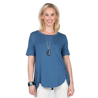 Xehar Women's Casual Side Button Detail Tunic (3 options available)