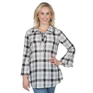 Xehar Women's Plaid Woven Tunic