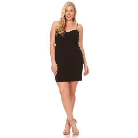 Xehar Women's Plus Size Sexy Sleeveless Mesh Bodycon Dress
