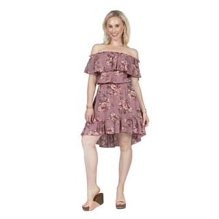 Xehar Women's Off Shoulder Floral Ruffle Dress