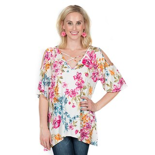 Xehar Women's Casual Floral Print Top
