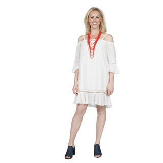 Xehar Women's Off Shoulder Ruffle Mini Dress