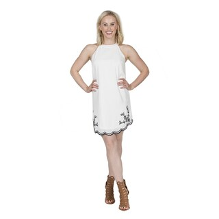 Xehar Women's Sexy Sleeveless Embroidered Dress