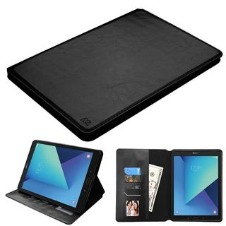 Insten Black Leather Case Cover with Stand/ Photo Display For Samsung Galaxy Tab S3 9.7""