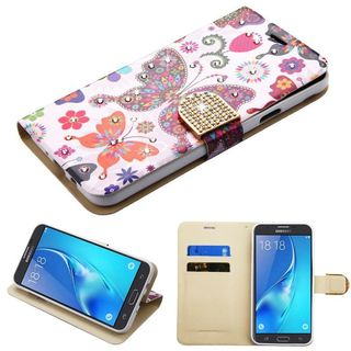 Insten Multi-Color Butterfly Wonderland Leather Case Cover with Stand For Samsung Galaxy J7 (2017)/ J7 Perx/ J7 Sky Pro/ J7 V