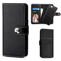 Insten Black Detachable Magnetic Leather Case Cover with Stand/ Wallet Flap Pouch For Apple iPhone 6 Plus/ 6s Plus/ 7 Plus