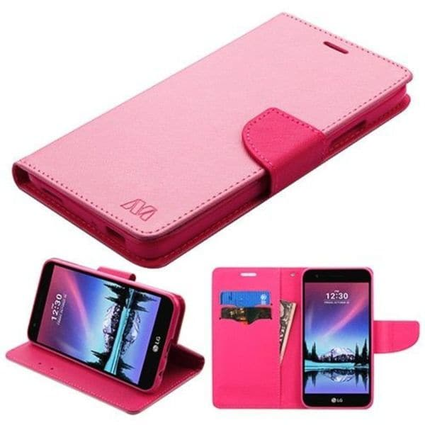 Shop Insten Pink/ Hot Pink Leatherette Case Cover with