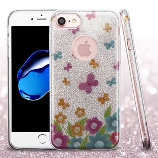 Insten Colorful Butterflies Glitter Hard Snap-on Dual Layer Hybrid Case Cover For Apple iPhone 7