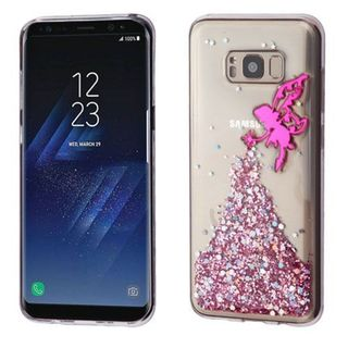 Insten Hot Pink/ Clear 3D Fairy Glitter TPU Rubber Candy Skin Case Cover For Samsung Galaxy S8