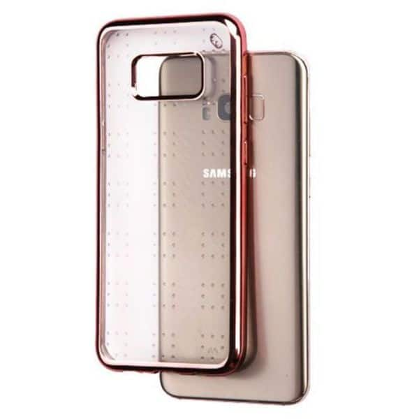 Insten Rose Gold Clear Spots Glitter Tpu Rubber Candy Skin Case Cover For Samsung Galaxy S8 Plus S8
