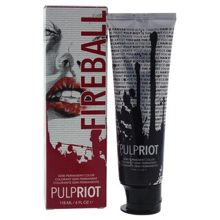 Pulp Riot 4-ounce Semi-Permanent Color Fireball Red